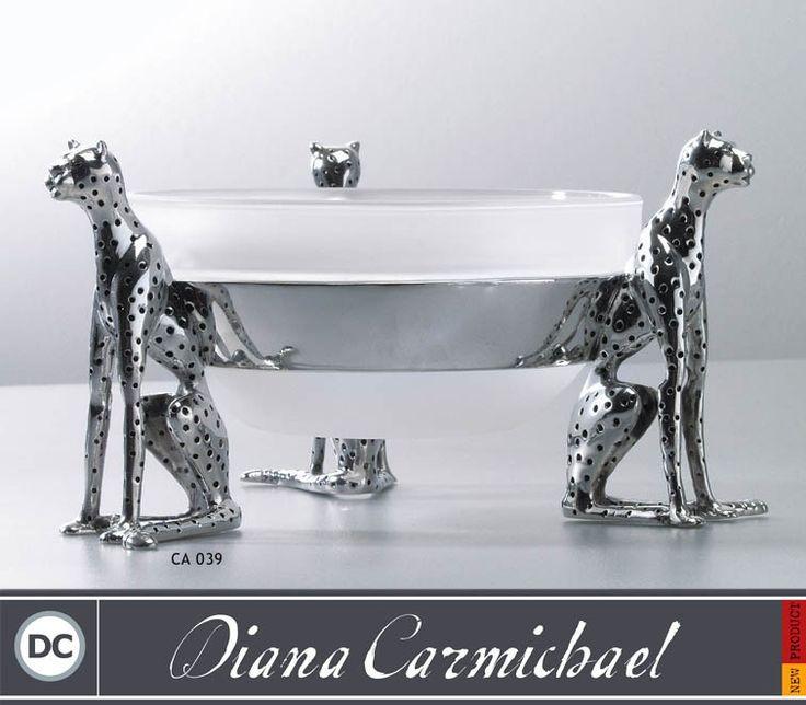 Diana Carmichael Cheetah Bowl With Spoon - Triple Cheetah