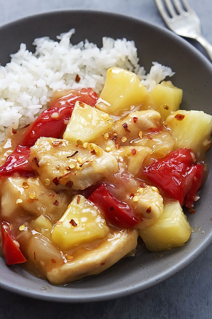 Sweet Fire Chicken Recipe - Saucy sweet and spicy Asian chicken made healthier at home in your slow cooker!