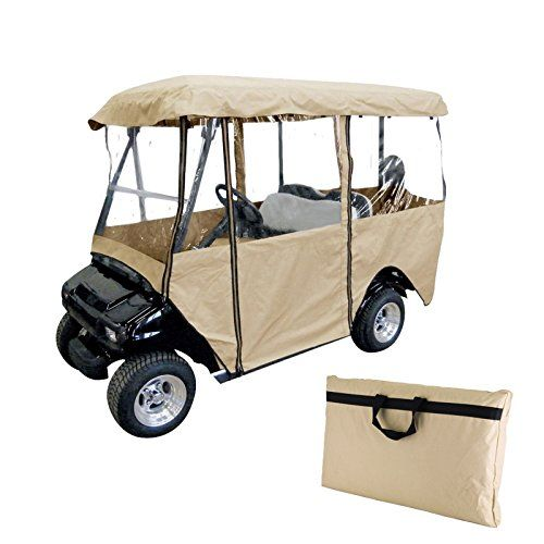 Best Golf Bags   OrangeA 4 Passenger Golf Cart Driving Enclosure with Clear PVC Window Golf Cart Cover Roof up to 58 Driving Enclosure Fits Club Car EZ GO and Yamaha Beige ** Continue to the product at the image link. Note:It is Affiliate Link to Amazon.
