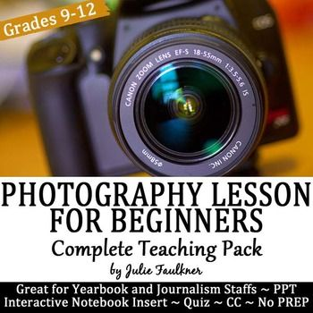 Composing the Right Shot for Beginning Photographers Teaching Pack is designed specifically for yearbook staffs.  The tips and pictures were chosen for situations and scenarios that students in a yearbook or journalism class would encounter.  If you are wanting to improve the quality and composition of the photos in your yearbook, then this teaching pack will be perfect.