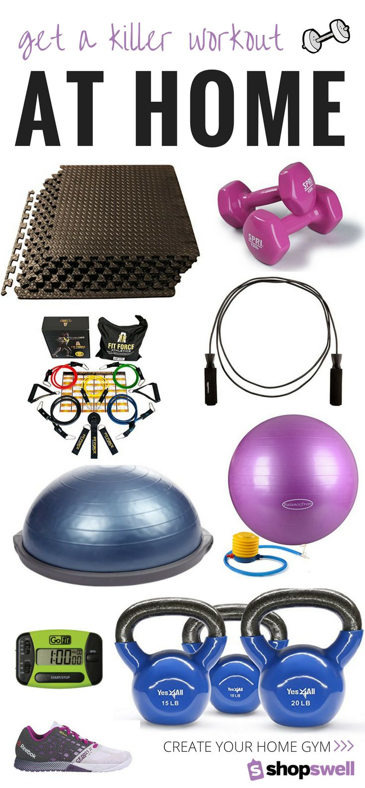 Get a killer workout at home with these 11 must-have fitness products. Shop the collection now!