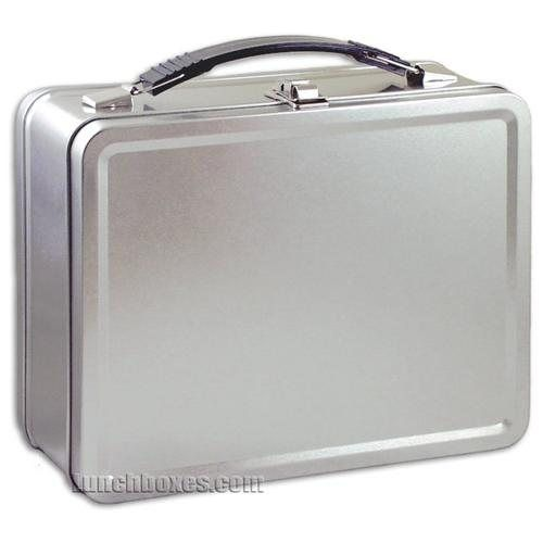 Plain Metal Lunch Box to make into a Secret Service briefcase for the ring bearer.