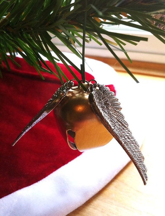 Golden Snitch Bell Ornament - Geekery - Holidays - Harry Potter - Its a Wonderful Life - Christmas - Holidays - Black Friday  This Golden Snitch