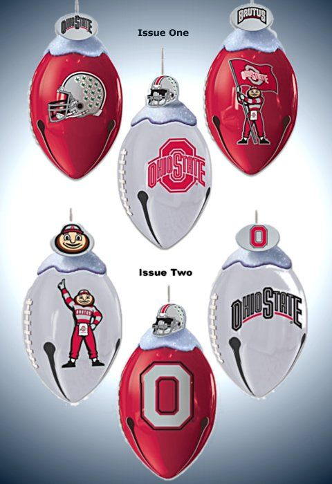 The Ohio State University Buckeyes FootBells Ornament Collection