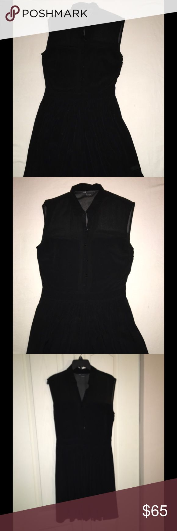 Dress by Armani Exchange Black swing dress with pockets, worn once for a photo shoot Armani Exchange Dresses