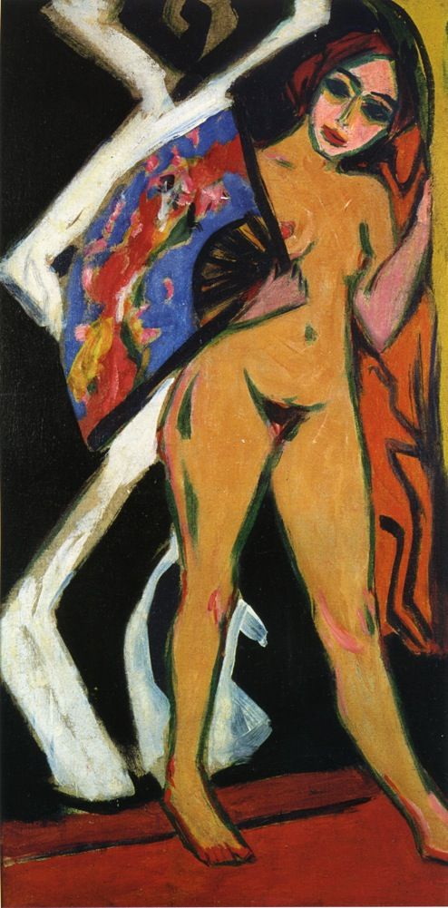 Ernst Ludwig Kirchner | Dodo with Large Fan