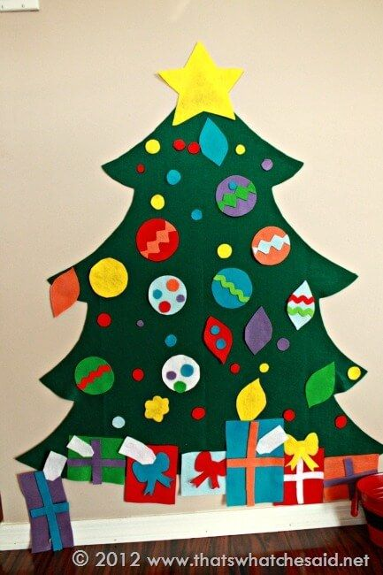How to make a felt Christmas Tree at thatswhatchesaid.com