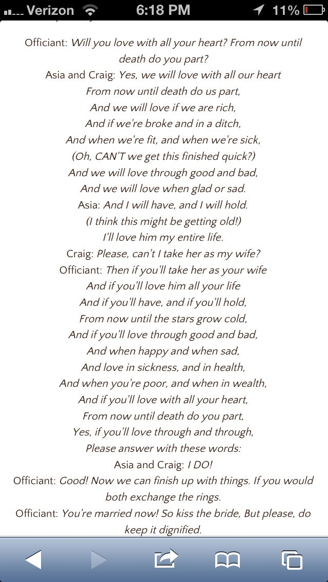 Dr. Seuss wedding vows...yet another thing I wish I had seen BEFORE my wedding!!!!
