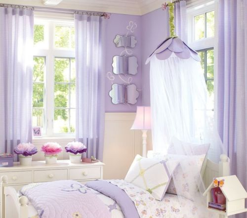 Pottery Barn Kids Lavender Petal Canopy New Flower Fairy