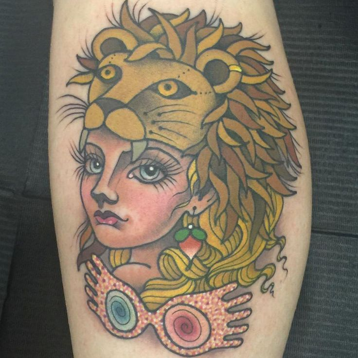 This tattoo perfectly captures the essence of the loony but lovable Luna Lovegood. Rhiannon of Capitol City Tattoo in Madison, Wisconsin, is stealing our Potter-loving hearts with this inked piece of artwork.