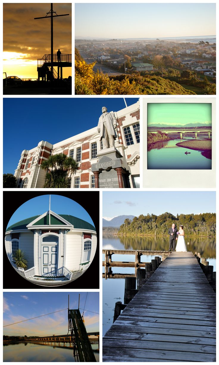 Hokitika - NZ, old buildings, beach, lakes