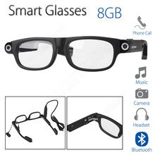 Free shipping!Smart Glasses Bluetooth 8GB W/ Headset Music Sleep alarm Fr Android Phone Products Features:Bluetooth 4.0 headset, allow you to answer call and enjoy musicSleep alarm, awake the user who is driving and ensure his/her safetyWith emergency lights, suitable for night driving, safe and convenientPlano lenses, can be replaced for myopic lensesPhoto taking and video ...