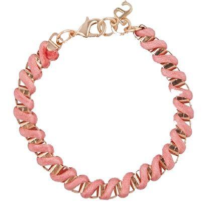 Armband in het lichtroze met goud van Supertrash. Simpel maar leuk! #girls #love #bracelets #trends #herfst