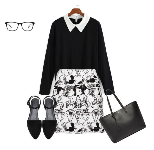 Untitled #74 by creece-massoudi on Polyvore featuring polyvore, fashion, style, Peter Jensen, Yves Saint Laurent, Joseph Marc and clothing