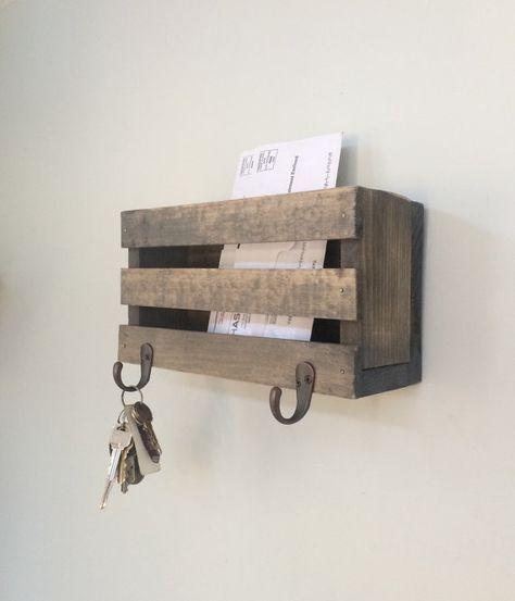 Buzón correo correo organizador ganchos para llaves por DeanPenn