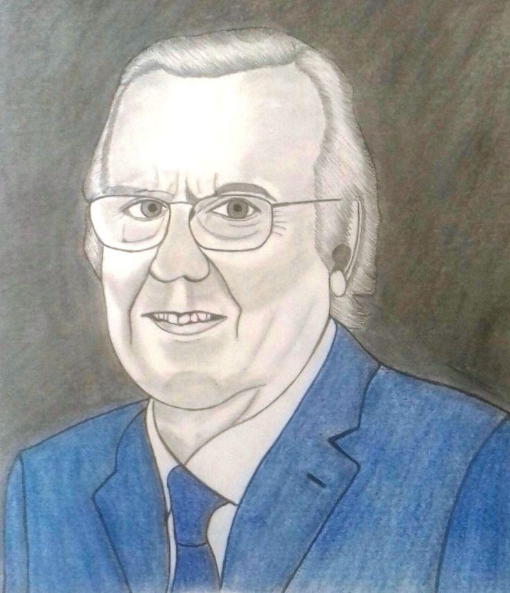 Carlos do Carmo - Fado singer. Pencil drawing.
