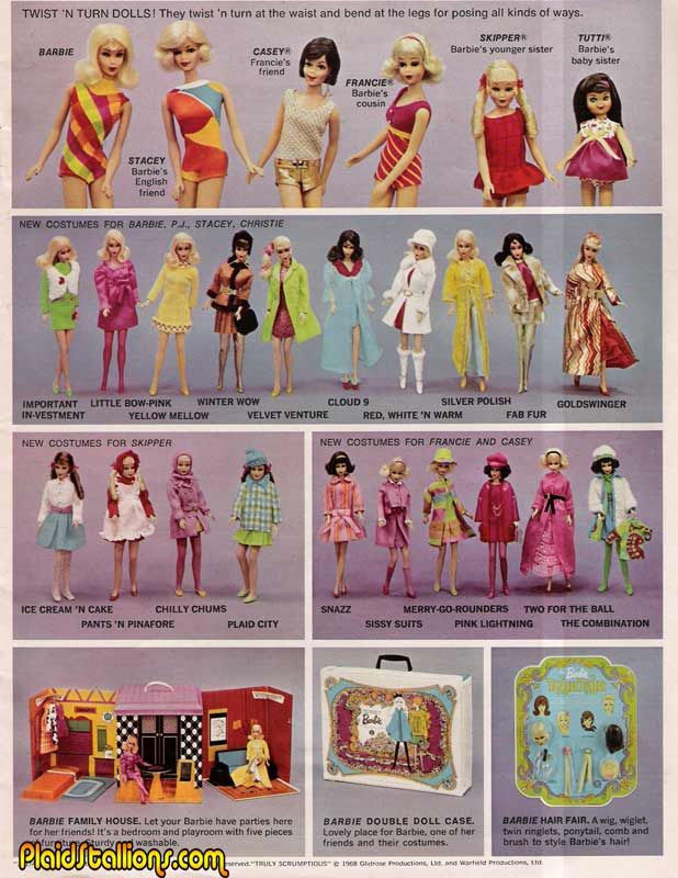Mattel Toys 1969 I had Stacey with every color hair, she was Barbie's english friend