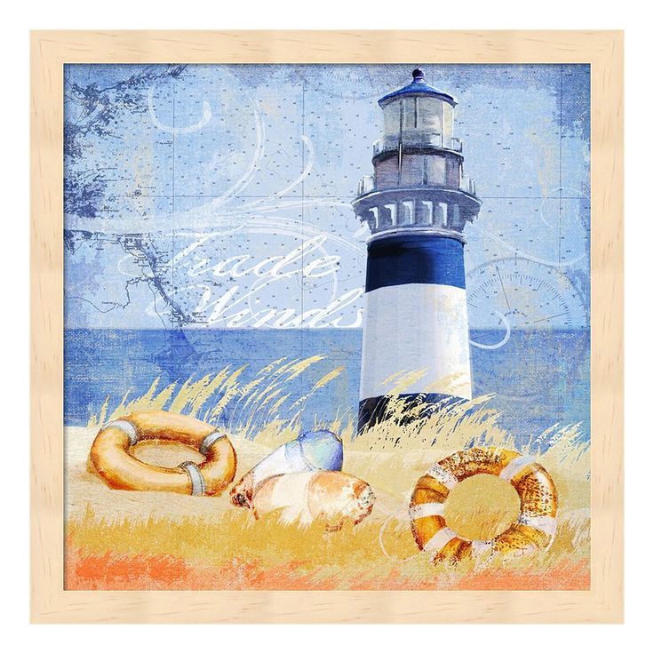 Metaverse Art Trade Winds Lighthouse Framed Wall Art, Multicolor