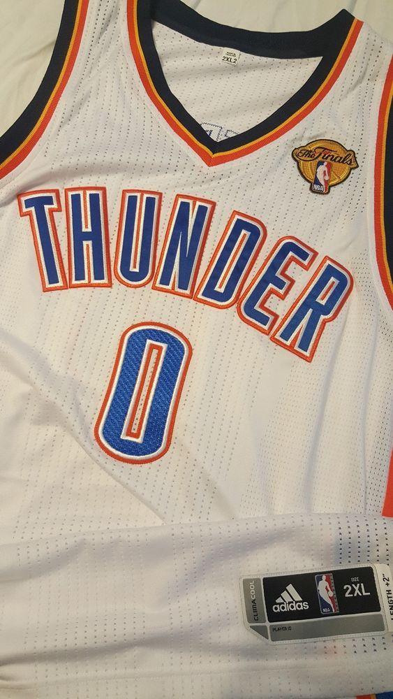 premium selection cee04 83a78 Russell Westbrook OKC Oklahoma City Thunder Authentic Adidas ...
