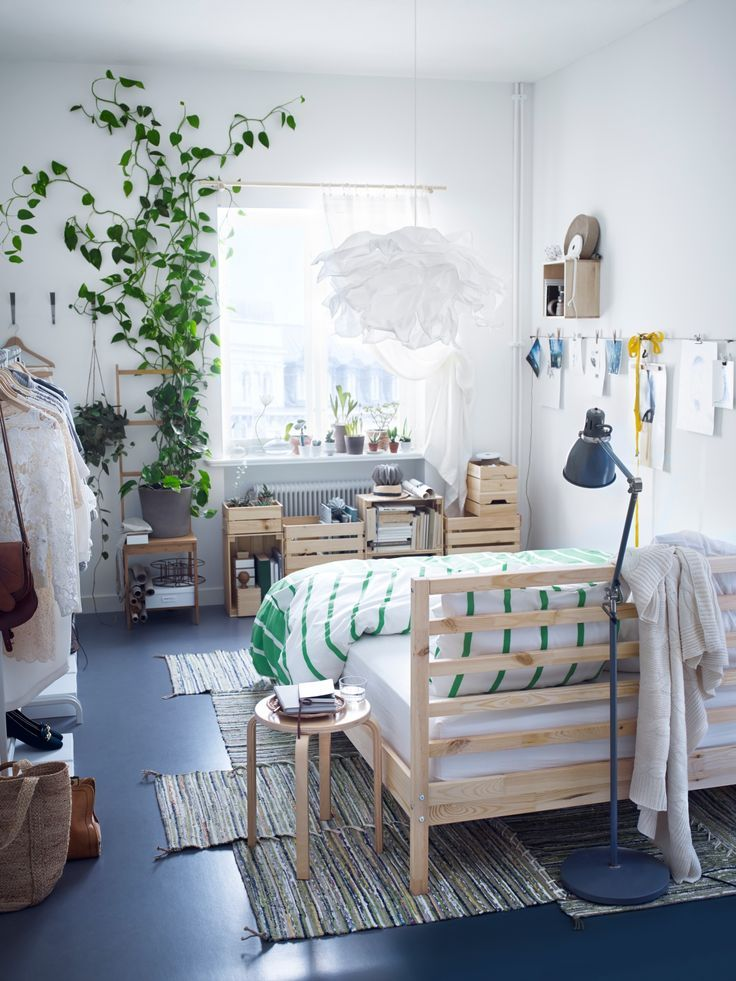 Best 20 ikea headboard ideas on pinterest malm canvas headboard and plywood headboard diy - Ikea small spaces bedroom plan ...
