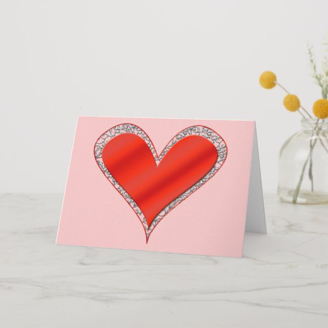 Valentine S Day Heart Card Template Valentines Day Hearts Heart