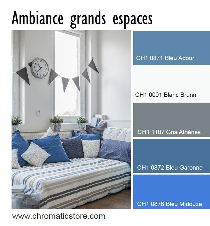 60 best images about chromatic gris neutres et colores for Chambre bleu et gris