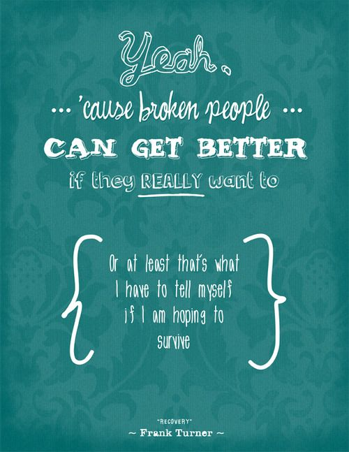 Recovery - Frank Turner Lyrics poster, design, typography, quote