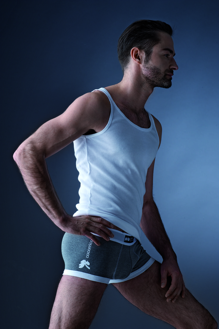 Men underwear collection Paul Brun Cocorrico everyday fabric: Cotton 95% elastan 5% Photo: George Ksandr