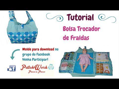 Bolsa Trocador de Fraldas - Completo com Molde - YouTube
