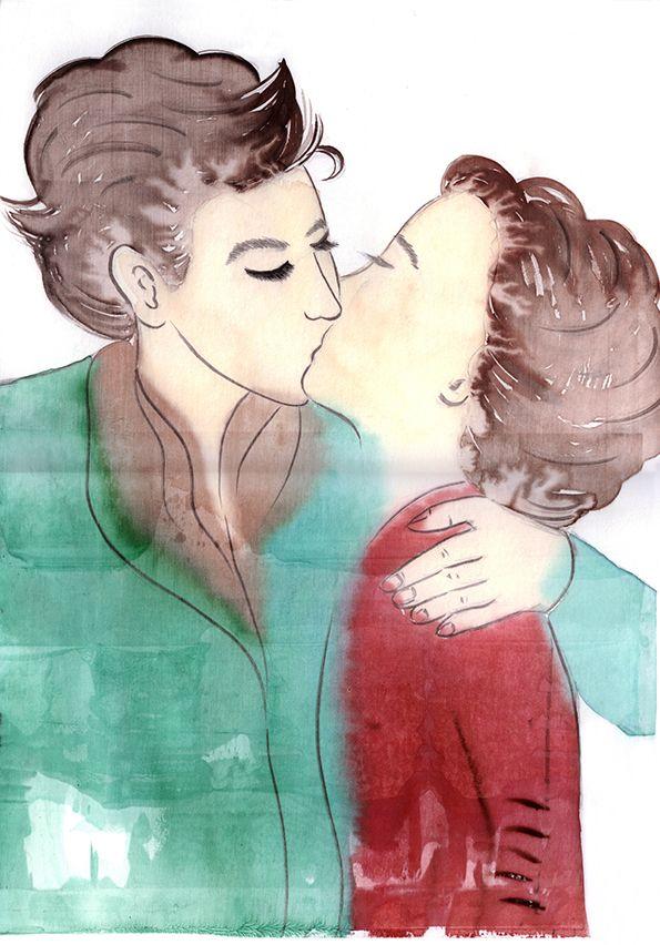 drawing_키스하는 연인