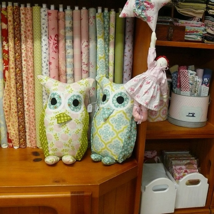 two little owl pillow - I love making these for the local markets I attend monthly