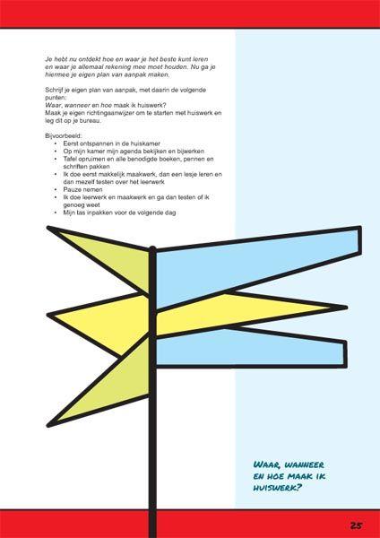 Huiswerk maken. Een pagina uit het werkboek Ik leer leren. http://ikleerleren.nl/werkboek-bestellen