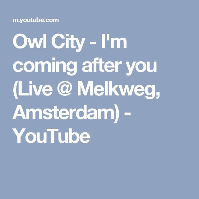 Owl City - I'm coming after you (Live @ Melkweg, Amsterdam) - YouTube