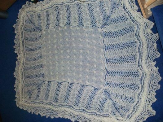 Cable and lace shawl - Knitting creation by mobilecrafts   Knit.Community