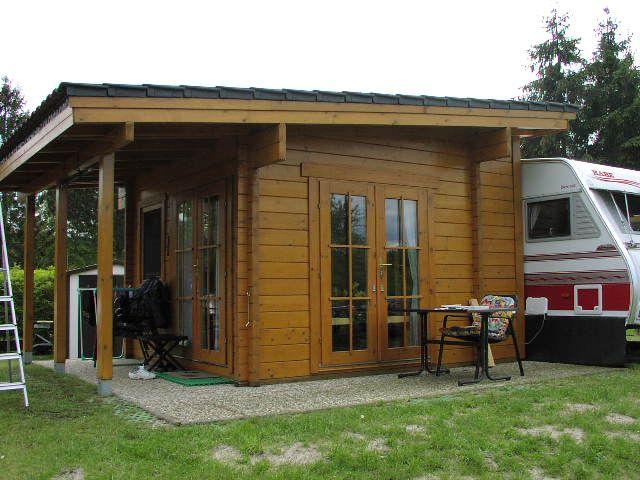 Caravan extension log cabin - beautiful design