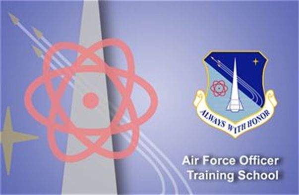 Air Force Officer Training School fact sheet banner. (U.S. Air Force graphic by Andy Yacenda, Defense Media Activity-San Antonio)