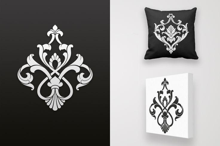 Damask Ornament #vintage #baroque #damask #ornament #element #design #graphic #home #decoration #vector #illustration #set #collection