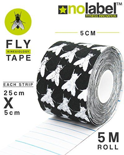 From 7.95:Pre-cut Kinesiology Tape - Muscle Tape 5m Sports Tape For Knee Shoulder Elbow Ankle Back Neck - Waterproof Medical Tape Reduce Fatigue Recover Faster - Fda/ce Approved Latex Free Medical Tape 4 Colours (black Fly Tape)