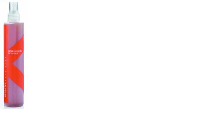 KERATINA LIQUIDA.  Reestructurante instantáneo, contiene queratina rica en aminoácidos afines al cabello, especialmente cisteina, que permite la formación de puentes disulfuro interfibrilares, que ejercen una función protectora sobre las estructuras queratinizadas del pelo. También contiene colágeno y proteínas de seda que tienen un efecto acondicionador, aportando volumen, suavidad y un brillo sedoso. 250 ml