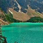 View of Moraine Lake and the beautiful colour, consolation lakes trail