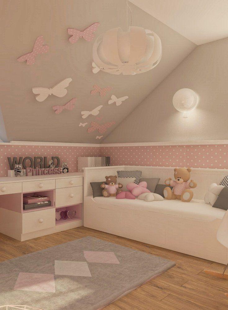 Deko-Tipp Kinderzimmer Wände mit Schmetterlingen selbst gestalten in ...