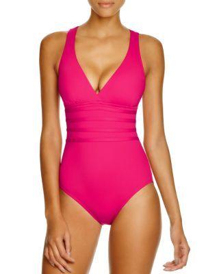 La Blanca Multistrap Cross Back Maillot One Piece Swimsuit | Bloomingdale's