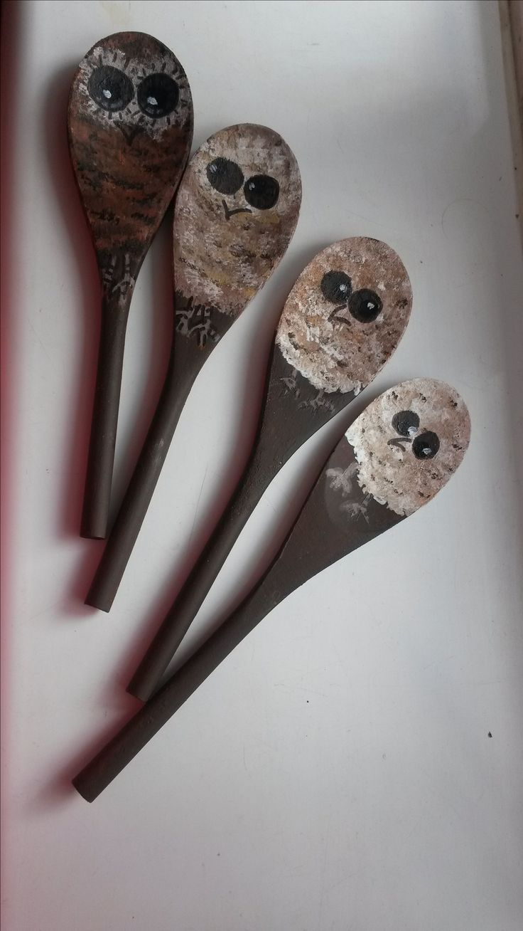 The Owl babies story spoon props