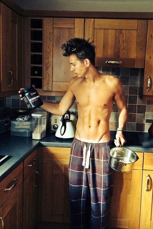 James McVey shirtless