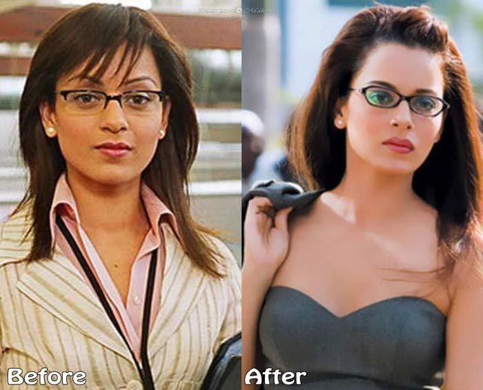 Kangana Ranaut Plastic Surgery Lip Job Breast Enhancement Before After Pictures Lip Job Breast Enhancement