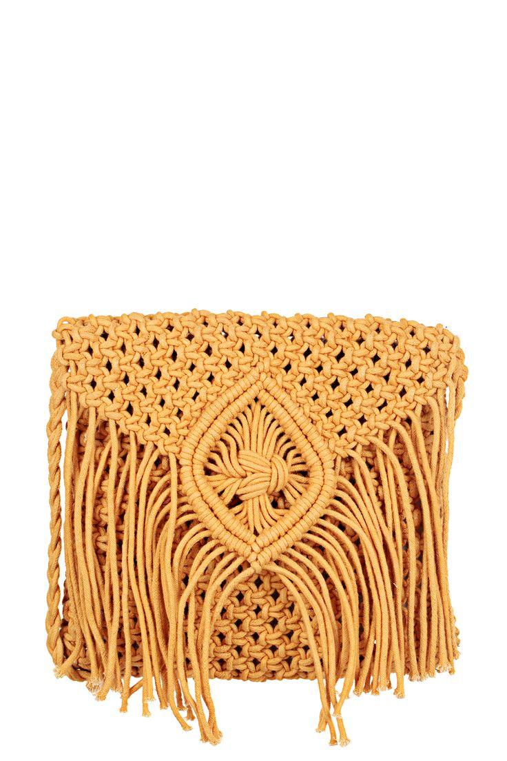 Sac porté épaule jaune coton Salvador Honey Leon & Harper sur MonShowroom.com