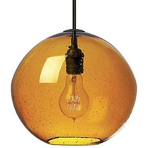 """Isla Pendant by LBL Lighting  .. comes in clear with bronze fixture 9 x 10"""" 60w $296"""