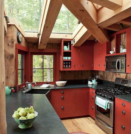 Best 25 Red Country Kitchens Ideas On Pinterest Country Kitchen Decorating Cottage Kitchen Decor And Country Open Kitchens