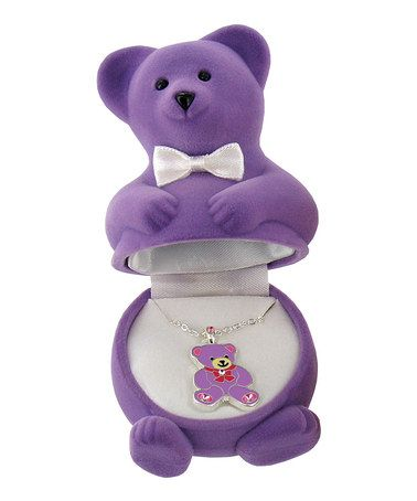 Another great find on #zulily! Purple Teddy Bear Pendant Necklace #zulilyfinds $8 !!