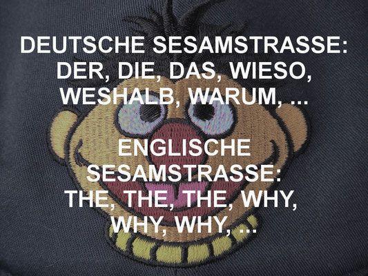 Deutsche Sesamstraße Sesamstrasse der die das wer wie was wieso weshalb warum englische the why